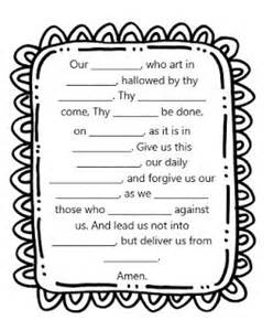 prayer worksheets from little miss catechist great for