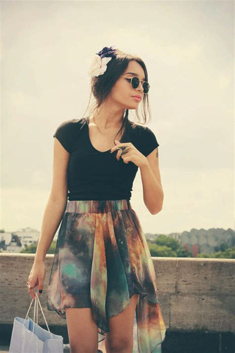 galaxy high low skirt on the hunt