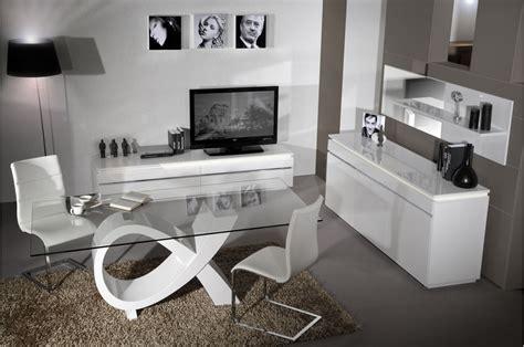 Salle A Manger Complete Laque Noir Et Blanc by Salle 224 Manger Compl 232 Te Laqu 233 Blanc Trendymobilier