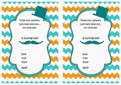 printable birthday party invitations mustache birthday invitations birthday printable