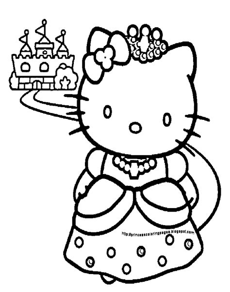 Hello Princess Coloring Page princess coloring pages