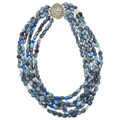 bead sale 5 strand murano glass bead necklace saturday sale for