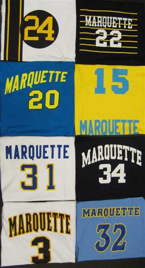 Jersey Mu Retro 99 vintage marquette jersey tees featuring classic marquette