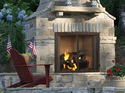 Outdoor Fireplace Clearance by Heat Glow Castlewood Outdoor Zero Clearance Wood Fireplace