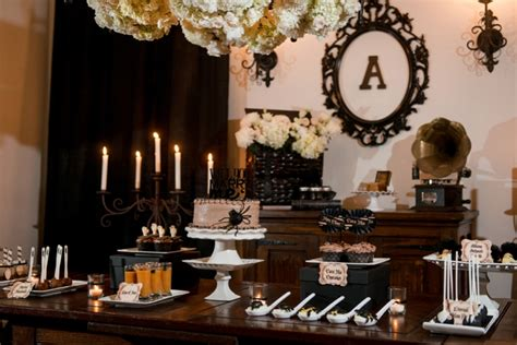 themes engagement party elegant halloween inspired engagement party ideas every