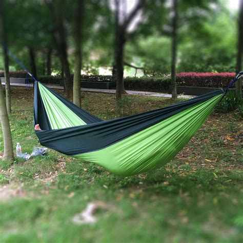 swinging hammock bed double outdoor hammock swing bed portable parachute nylon
