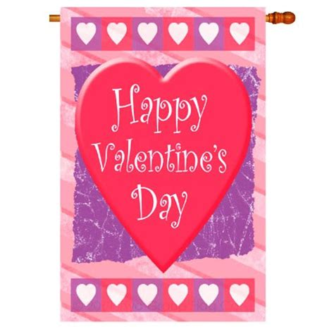 valentines flag house flag valentines day house flags