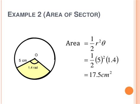 Area Of Section Of Circle by Class Activity Circle