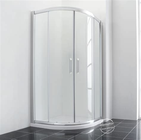 Manhattan Shower Doors Manhattan New Era 6 Offset Quadrant Duo Enclosure 1000 X 800mm