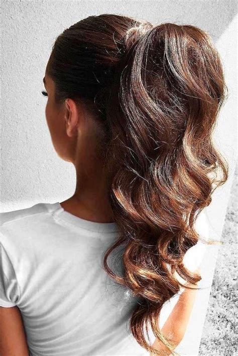 back to school ponytail hairstyles for medium long hair try a high pony tail easy summer hairstyles for the