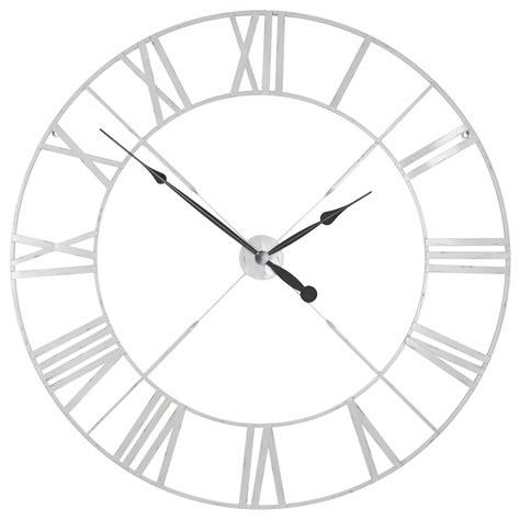 distressed white large wall clock furniture la maison chic luxury interiors