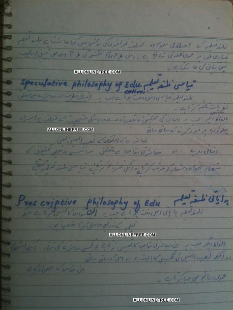 Nazria Pakistan Essay In Urdu by Educational Philosophy Notes In Urdu All Free