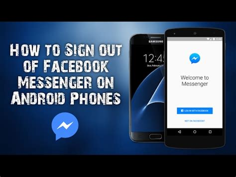 how to sign out of messenger android