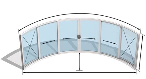 Curved Patio Doors Model W6 F Curved Glass Doors Curved Glass Door