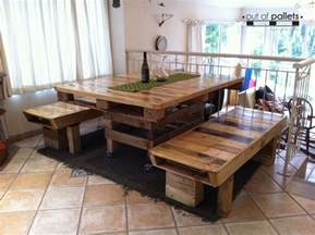 Upcycled Kitchen Ideas dining table out of pallets wood pallet ideas recycled