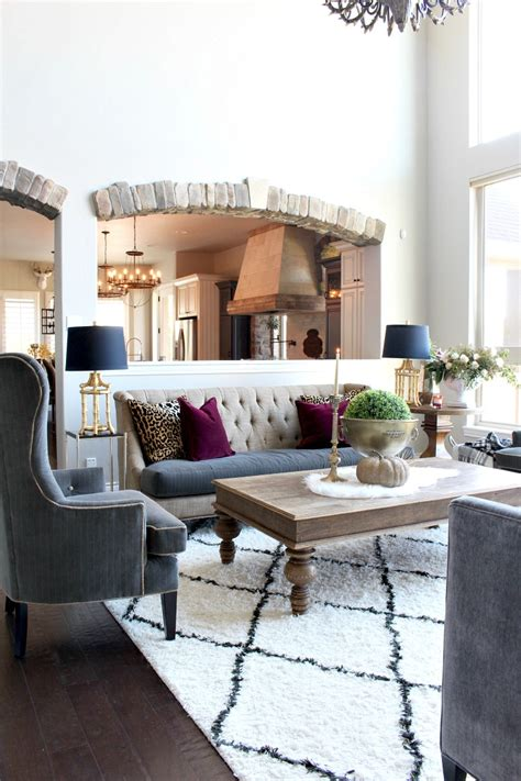 glam cozy fall living room the house of silver lining