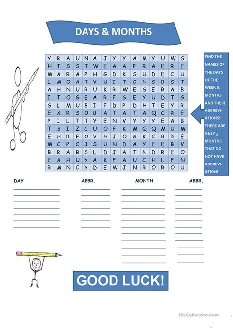 printable word search months of the year days months wordsearch worksheet free esl printable