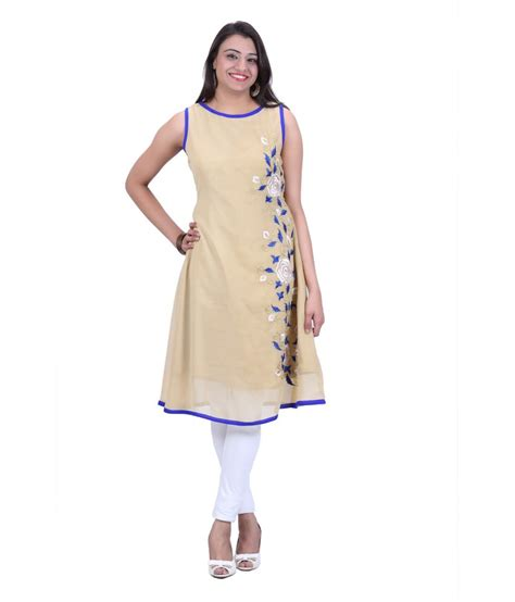 boat neck dress kurti kiaraa poly georgette boat neck kurti beige buy kiaraa