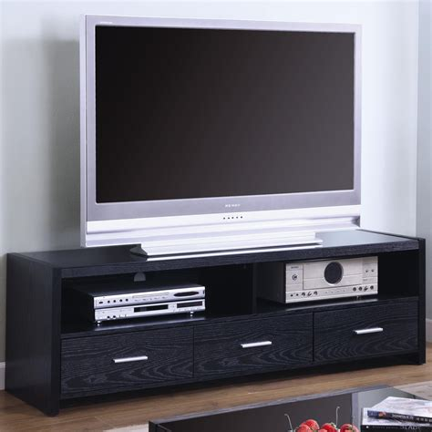 Tv Console Table Small Modern Flat Screen Tv Console Table With Dvd Player Storage And Drawer Painted With Black