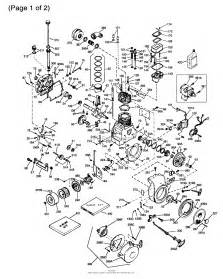 tecumseh oh160 170154g parts diagram for engine parts list 1