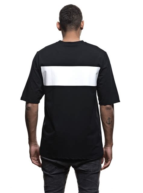 Black Printed T Shirt Mens by S Oversize T Shirt Black Printed White Stripes