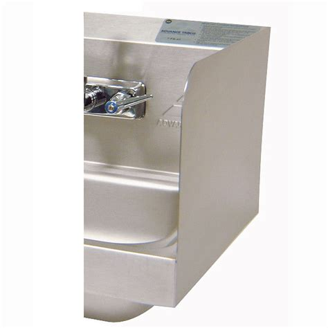 100 kitchen sink splash guard advance tabco 7 ps advance tabco 7 ps 15d 12 quot tall side splash for