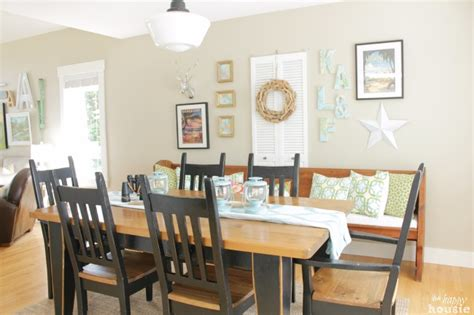 lake house dining room ideas lake cottage late summer beachy decor house tour