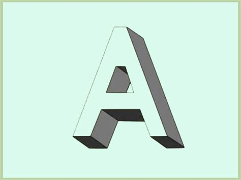 how to draw shadow effect 3d block letters with exles