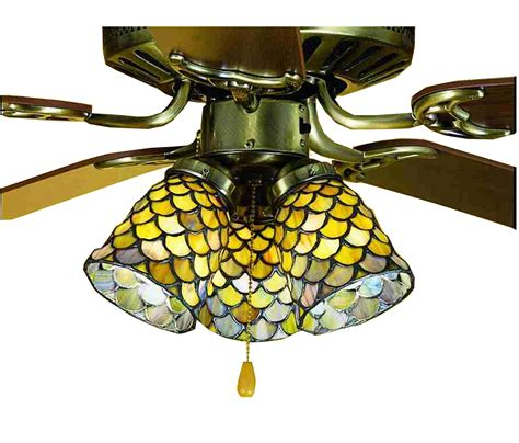 Glass Light Shades For Ceiling Fans Meyda 27470 Fishscale Fan Light Shade