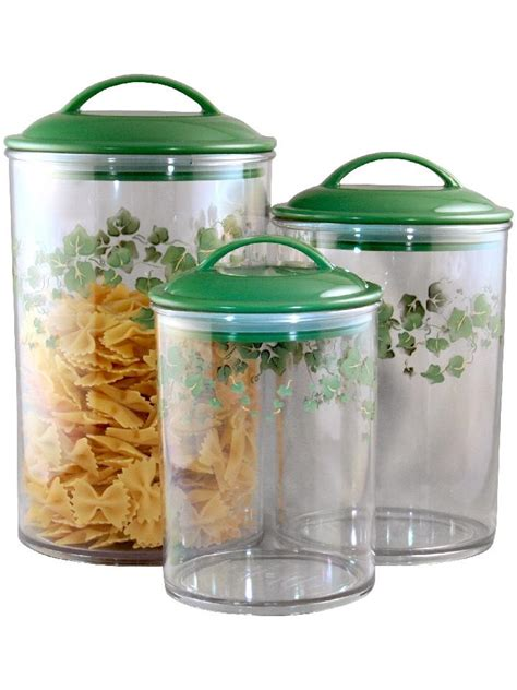 clear plastic kitchen canisters 3 corelle clear acrylic canister set see thru storage jars