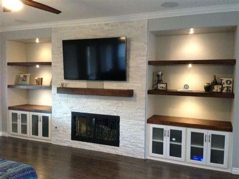 beautiful tv mounted  chimney  dream house