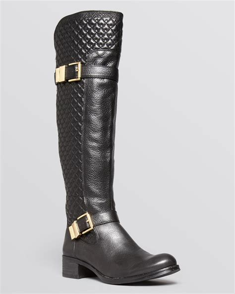 Vince Camuto Quilted Boots vince camuto boots faris quilted in black lyst