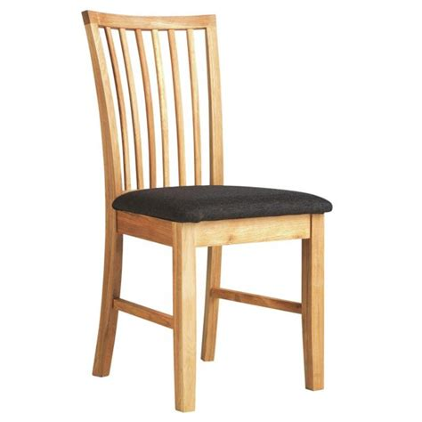 buy collection hampshire pair of solid oak dining chairs