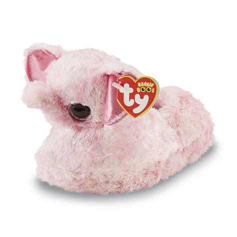 boo slippers ty toys toddler s beanie boo pink slipper