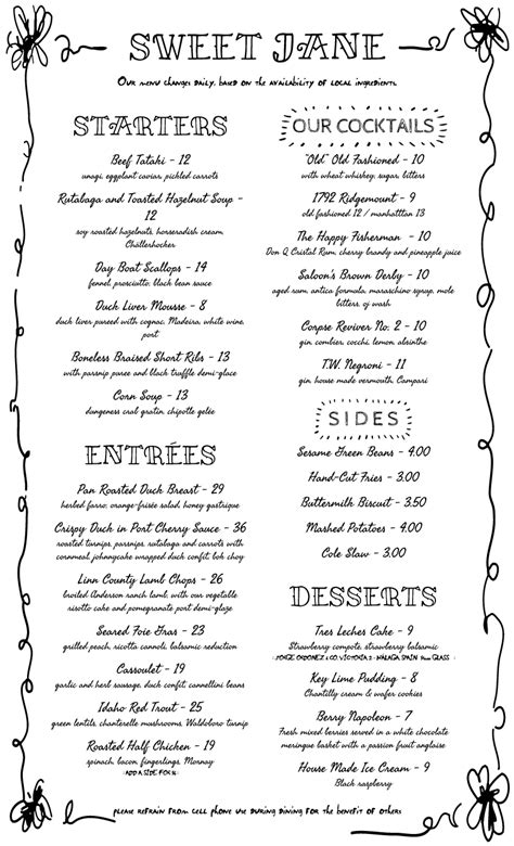 Menu Design Samples from iMenuPro - more than just templates