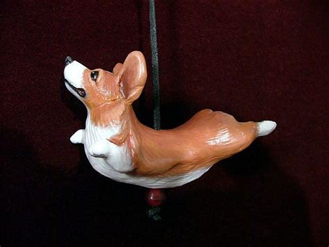 corgi ornament by camille meeker turner from sculpture