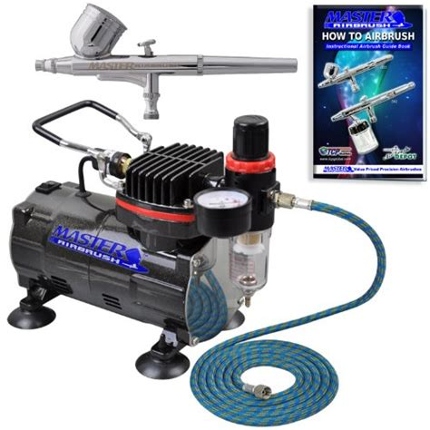 Masker Airbrush master airbrush multi purpose gravity feed dual airbrush kit with 6 foot hose and a