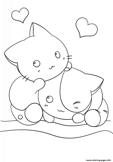 coloring book option printing kawaii kittens coloring pages printable