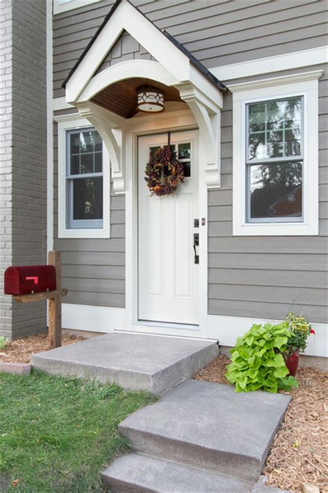 Doorway Awnings Cape Cod Whole House Renovation Traditional Entry