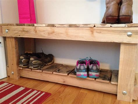 diy entryway storage bench 30 pallet shoe rack ideas to suit different tastes