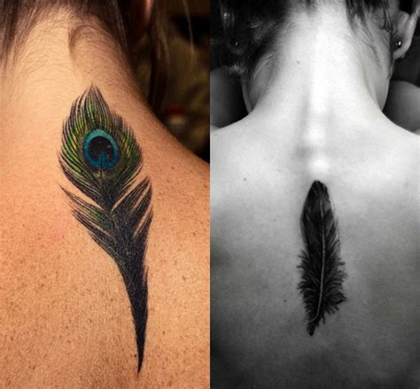 tattoo feather back feather tattoo images designs