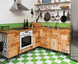 Kitchen Design Diy Rustic Wood Storage On Tile Floor Inside Diy Small Kitchen With Single Sink Near Gas Stove Plus