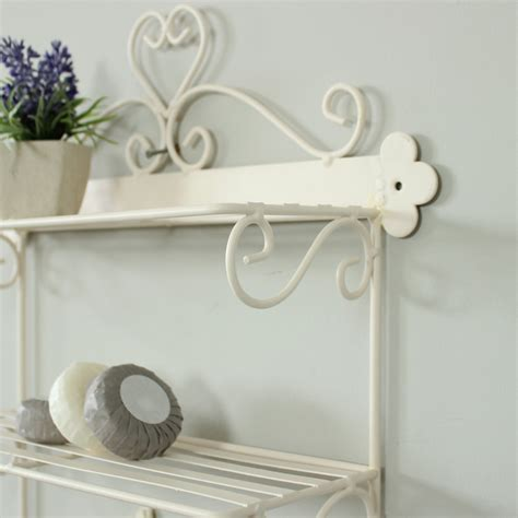 wall shelves with hooks ivory wire wall shelves with hooks melody maison 174