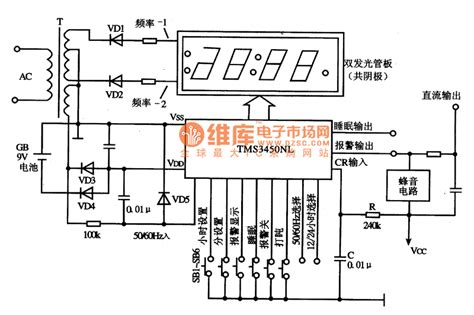 schematic diagram of integrated circuit tms3450nl digital clock integrated circuit diagram lifier circuits miscellaneous