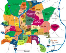 atlanta neighborhoods map atlanta real estate