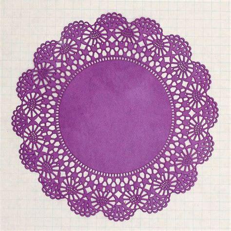 Paper Doilies - large plum purple paper doilies set of 10 diy kit 5 50