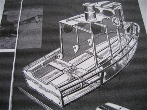 ez build tugboat home built plywood boat plan 5 ebay