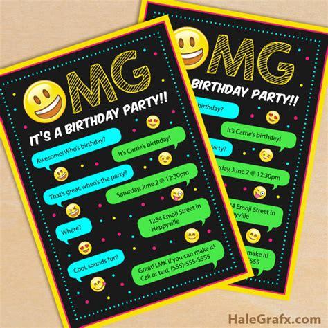 Free Printable Emoji Birthday Party Invitation Emoji Birthday Invitation Template Free