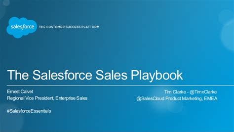 Salesforce Sales Playbook Session Essentials Dubai Feb 23 2015 Sales Playbook Template