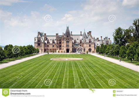 Chateauesque House Plans by Bitlmore House Royalty Free Stock Photography Image